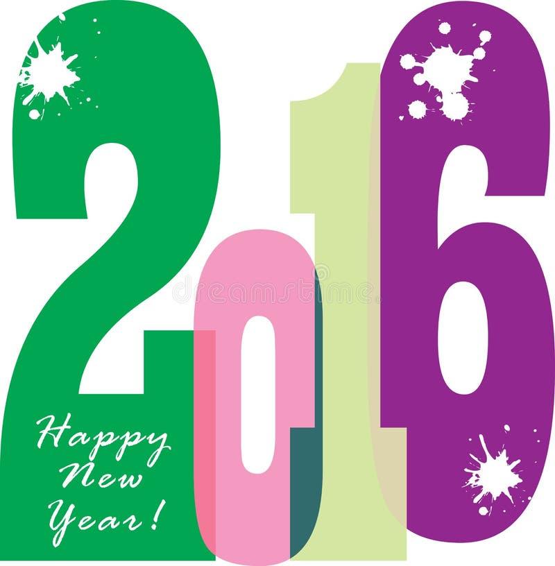 Broschyrbaner 2016 för lyckligt nytt år arkivbild