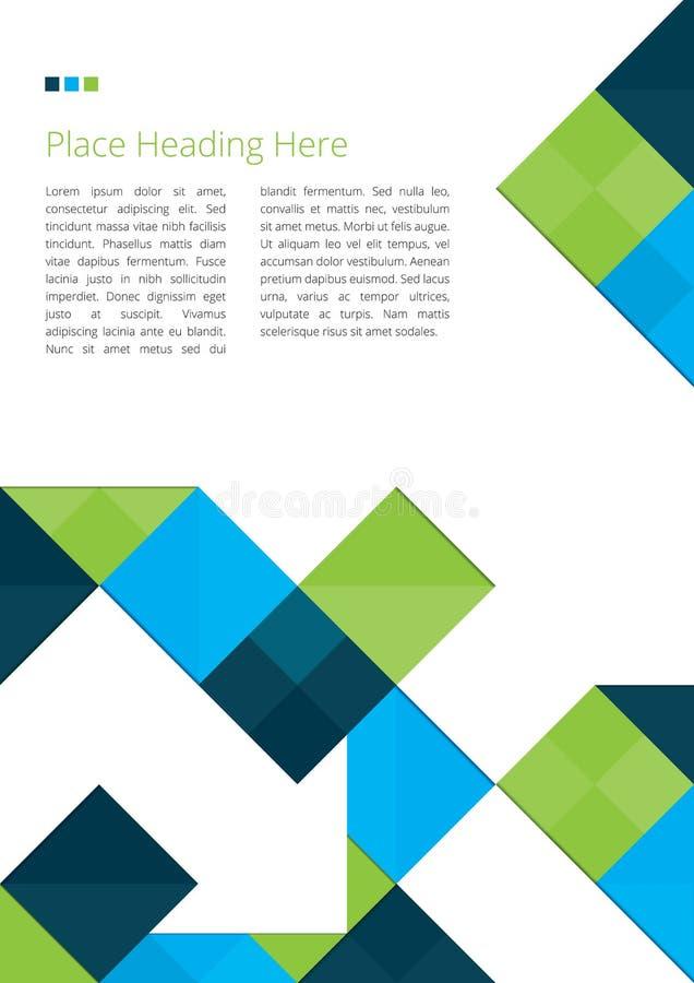 Broschyrdesign med fyrkanter vektor illustrationer