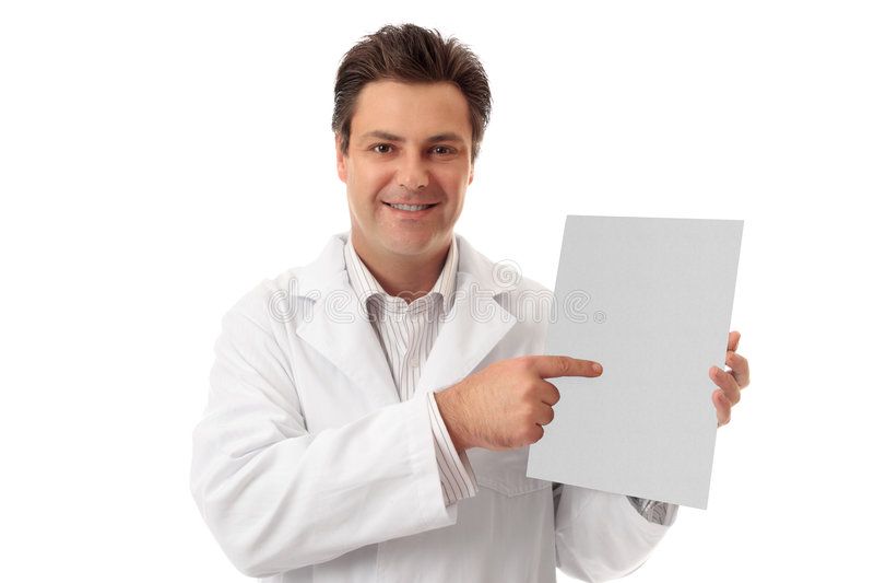 broschyrdoktorsfaktumet rymmer pharmacistarktecknet arkivbild