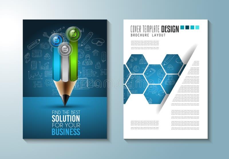 Broschyrmall, reklambladdesign eller Depliant liten vik vektor illustrationer