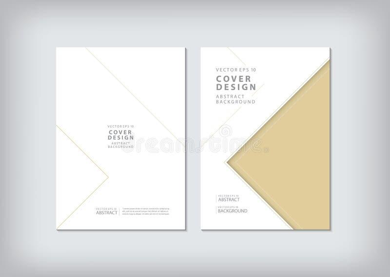 Broschyrmallorientering, räkningsdesignårsrapport, tidskrift, vektor illustrationer