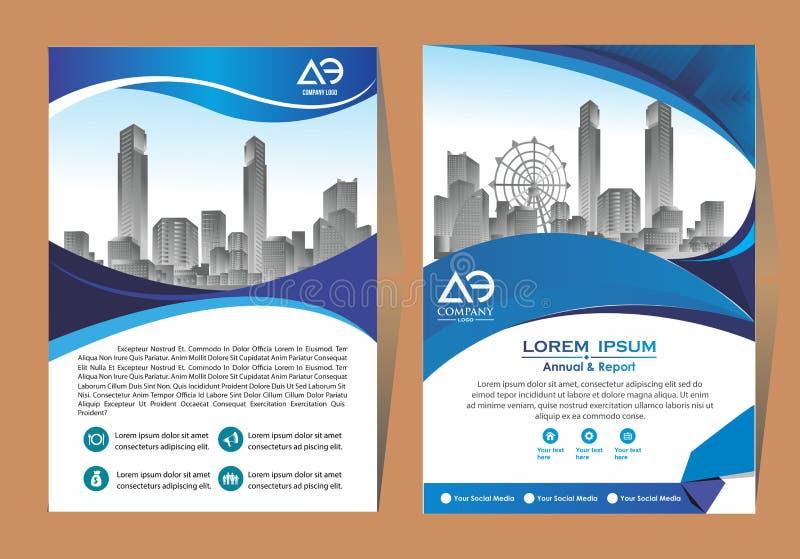 Broschyrmallorientering, r?kningsdesign?rsrapport, tidskrift, reklamblad eller h?fte i A4 med bl?a geometriska former p? polygona vektor illustrationer