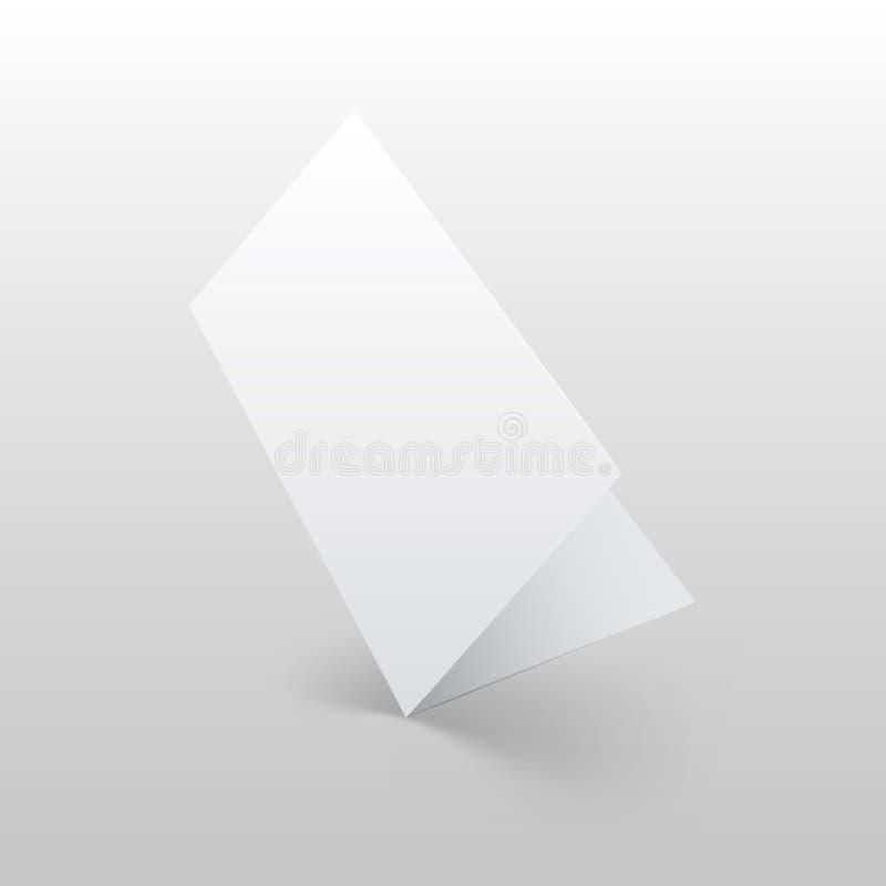 Broschyrmodellvektor stock illustrationer