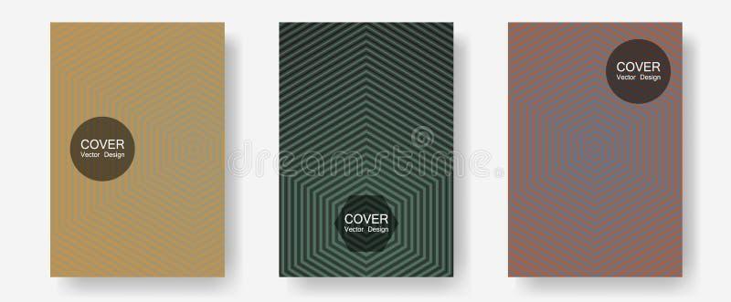 Broschyrräkningar, affischer, banervektormallar vektor illustrationer