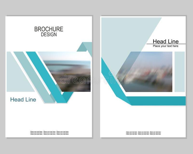 Broschyrräkningsdesign stock illustrationer