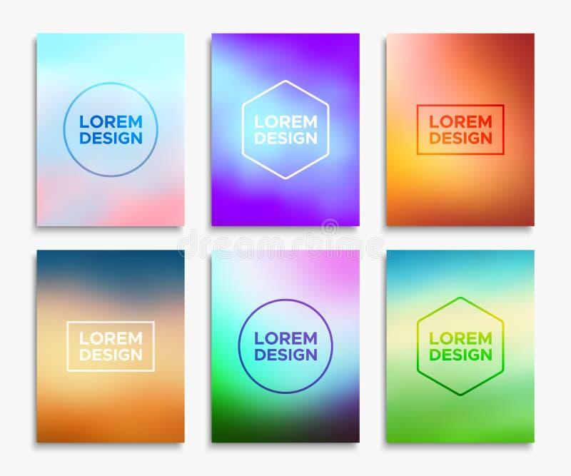Broschyrreklambladorienteringar i formatet A4 Abstrakt begrepp formar stock illustrationer