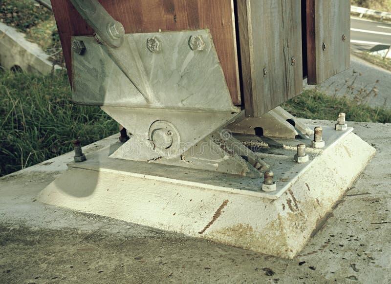 Broserviceankare Överbrygga skarven av balkbron arkivbilder