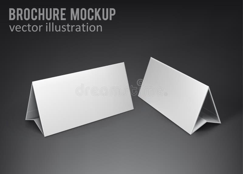 Broshure blanc 3d de maquette avec l'ombre illustration de vecteur