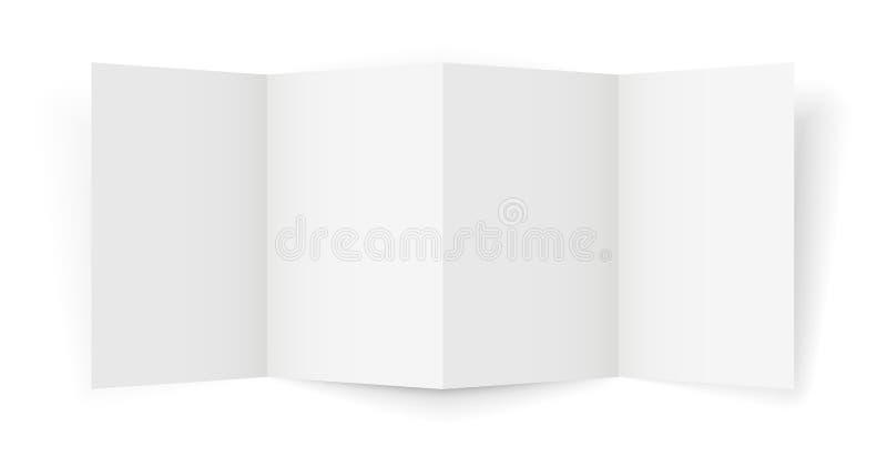 Broshure triple stock de ilustración