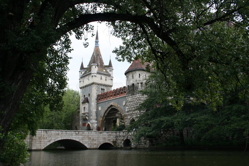broslottet gates vajdahunjad royaltyfri fotografi