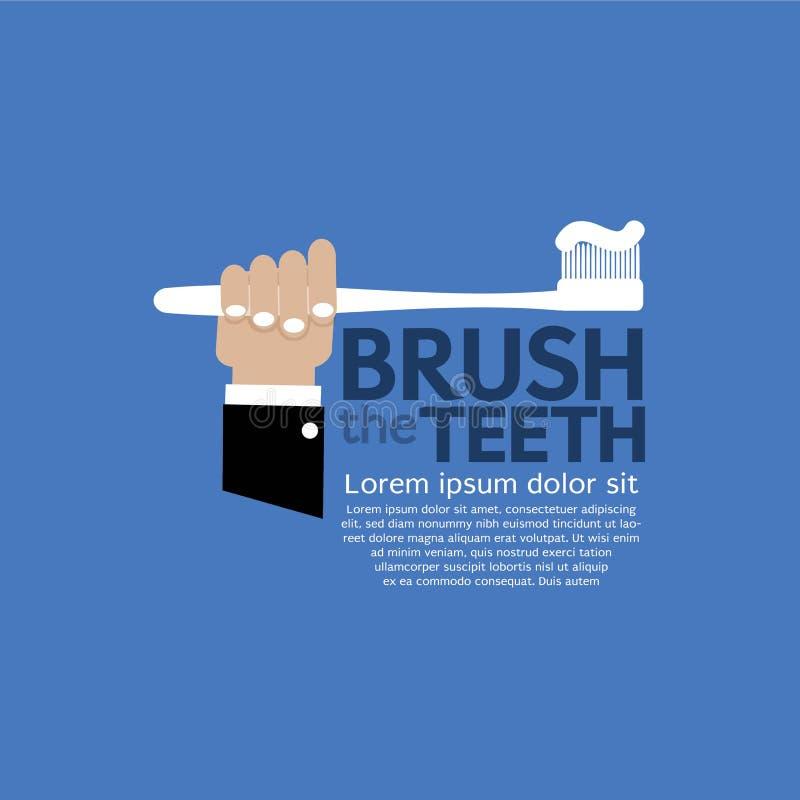 Brossage de dents. illustration de vecteur