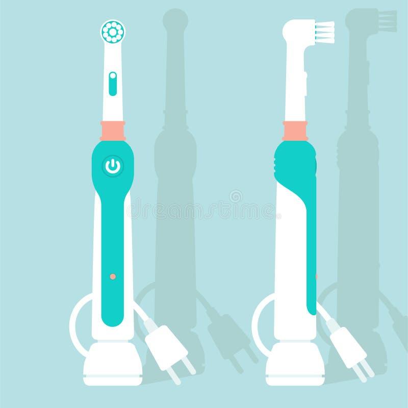 Brosse à dents électrique illustration de vecteur