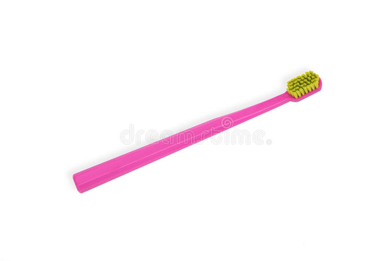 Brosse à dents rose photographie stock