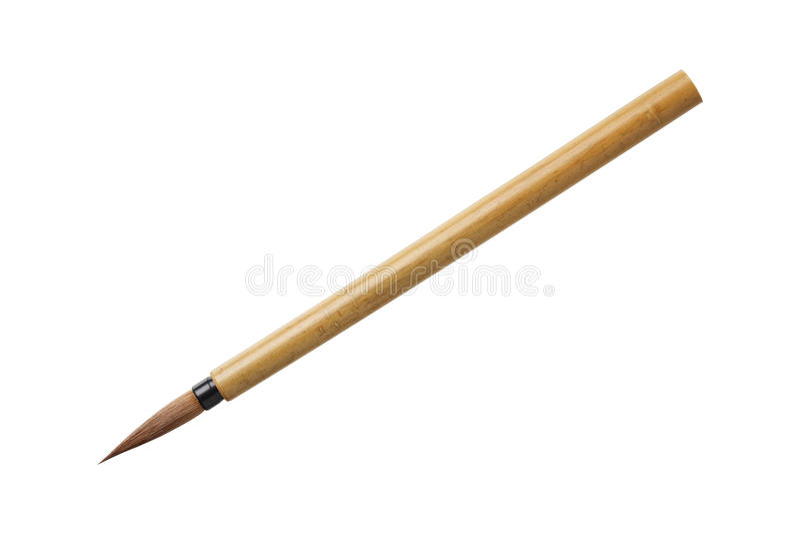 Brosse brune en bambou photos libres de droits