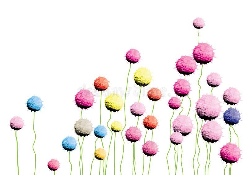 Brosse d'aquarelle de vecteur de fleurs d'amaranthe de globe tirée par la main pour le fond, ou carte illustration de vecteur