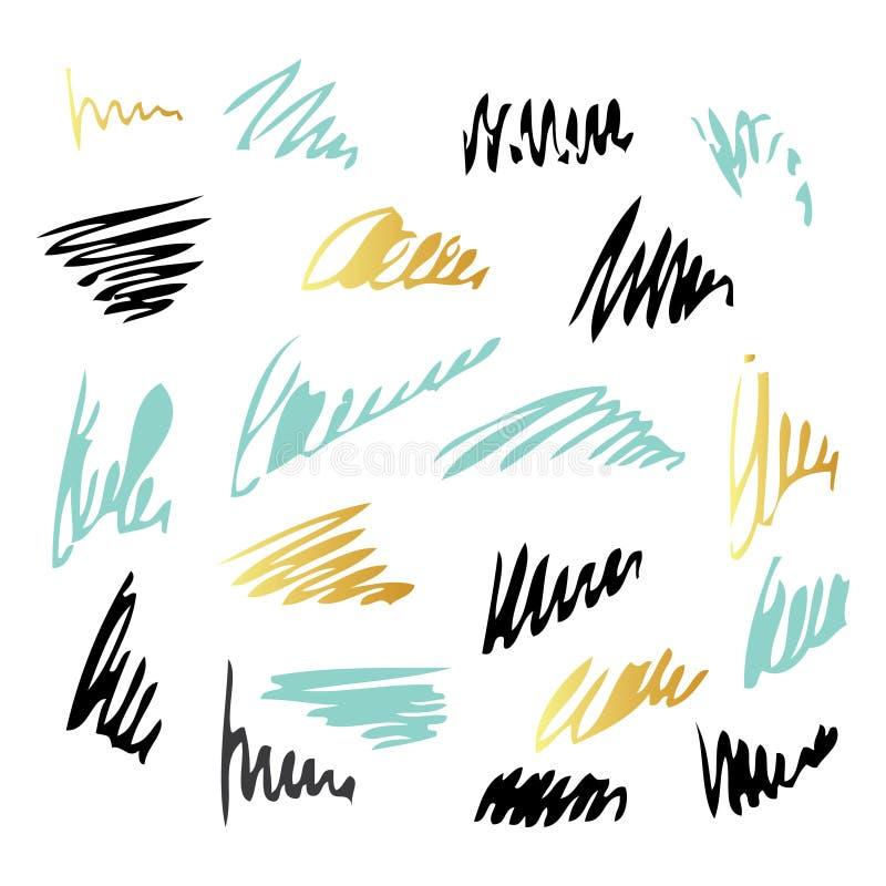 Brosse de lecture d'encre de griffonnage d'isolement sur le fond blanc illustration de vecteur