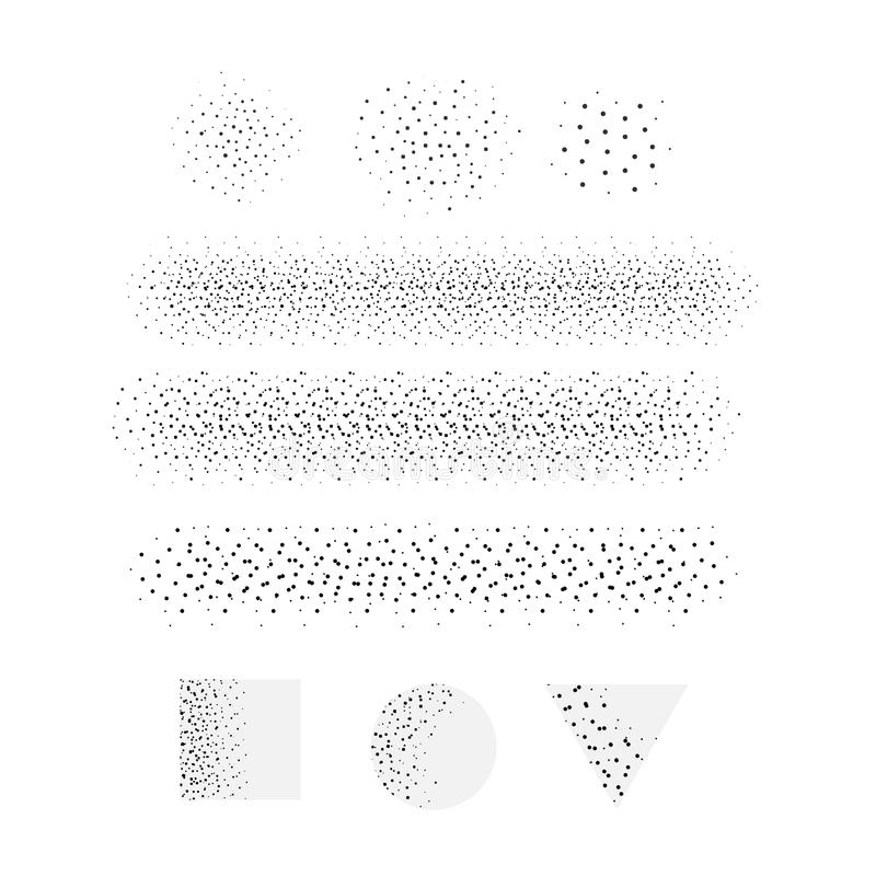 Brosse de lecture de pointillé de dispersion de vecteur illustration de vecteur