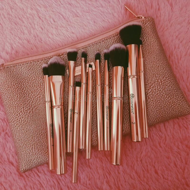 Brosse de maquillage photographie stock libre de droits