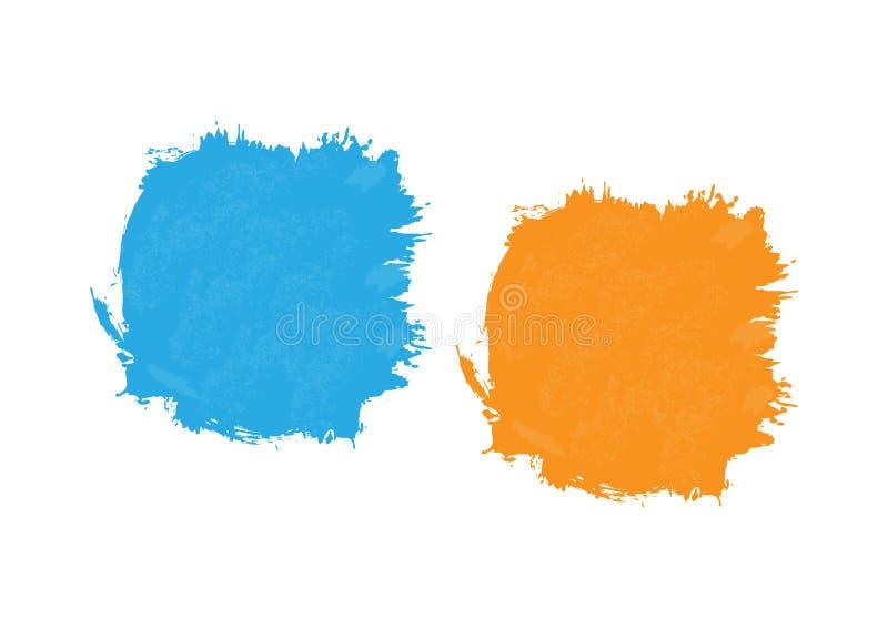 Brosse de tache peinte par aquarelle abstraite Texture grunge illustration de vecteur