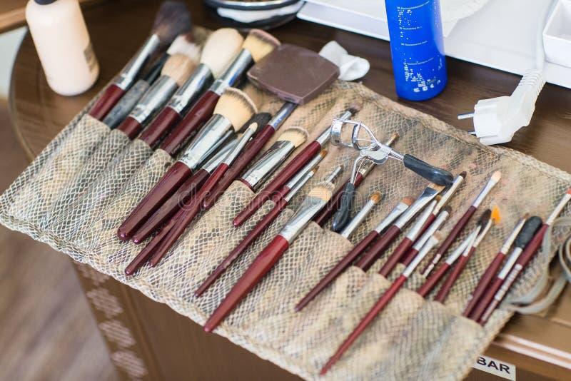 Brosses de maquillage, plan rapproché image libre de droits