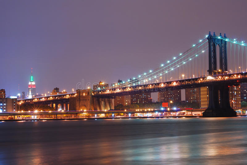 brostad manhattan New York royaltyfri bild