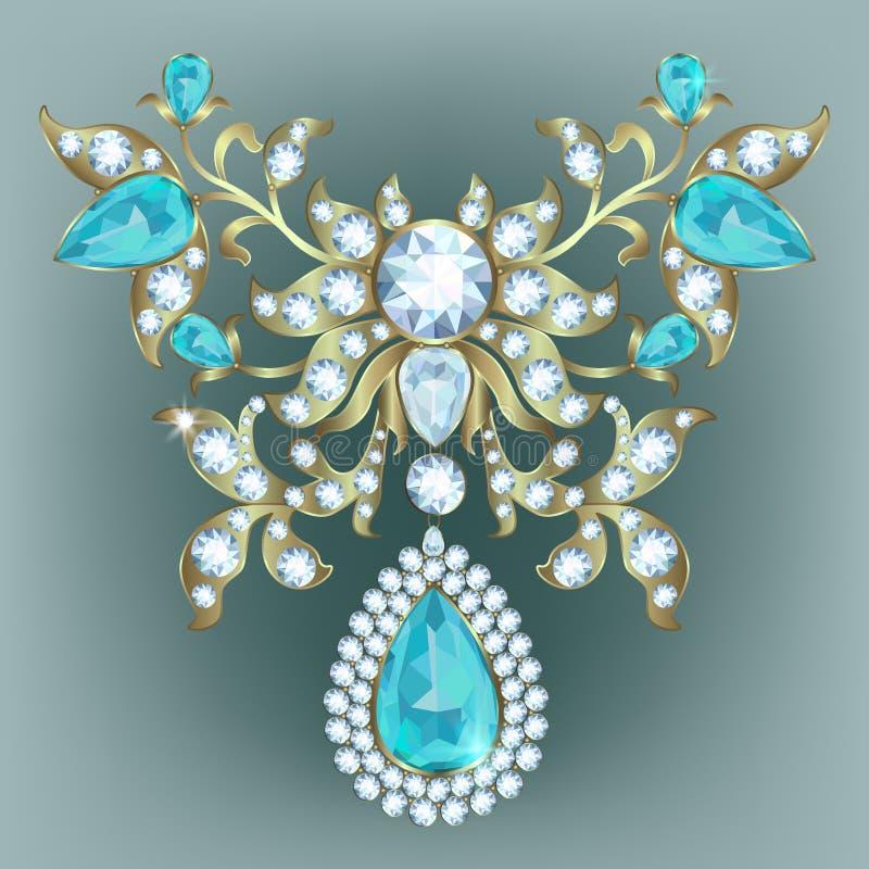 Broszka z diamentami ilustracji