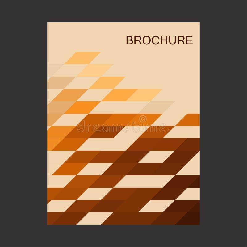 Broszurka Pokrywa broszura Ulotka projekta stylu mozaiki wektor ilustracji