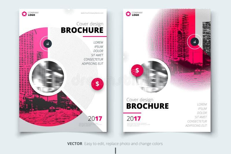 Broszurka projekt Korporacyjna biznesowego raportu pokrywa, broszurka lub ulotka projekt, Ulotki prezentacja Ulotka z abstraktem ilustracji