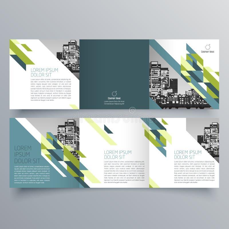 Broszurka projekt, broszurka szablon ilustracji
