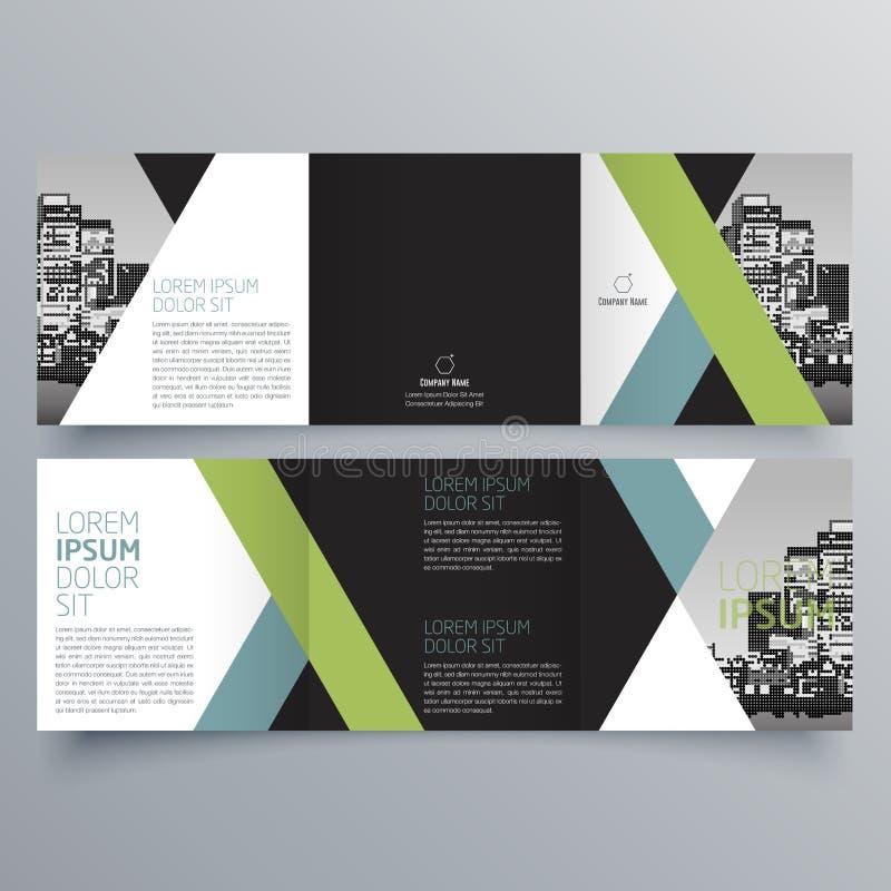 Broszurka projekt, broszurka szablon ilustracja wektor