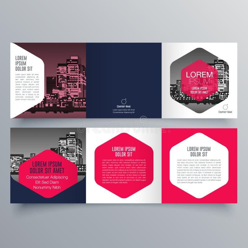 Broszurka projekt, broszurka szablon royalty ilustracja