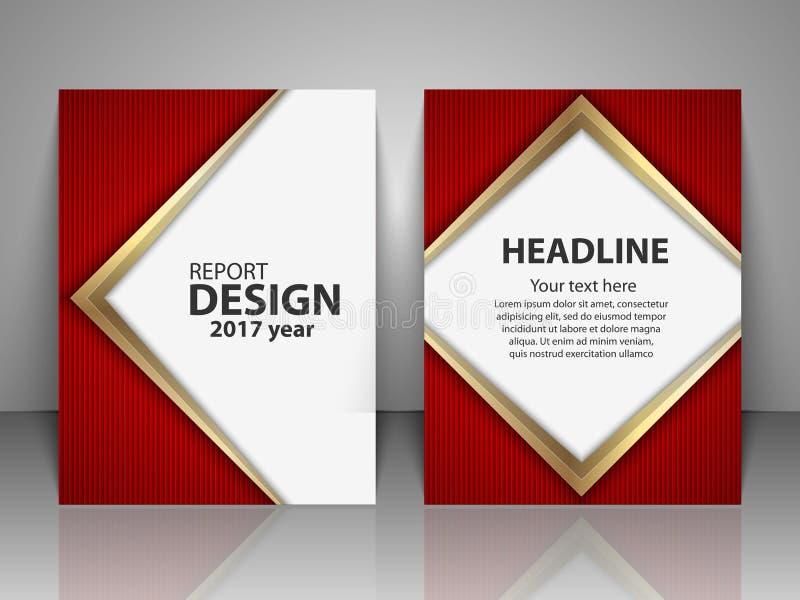 Broszurka projekta szablon Raport, ulotka, biznesowy układ, prezentacja szablonu A4 rozmiar royalty ilustracja