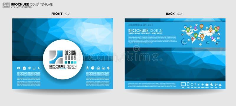 Broszurka szablon, ulotka projekt lub Depliant pokrywa dla biznesu p, ilustracja wektor