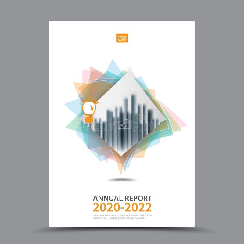 Broszurka szablonu układ, okładkowy projekta sprawozdanie roczne, magazyn, ulotka lub broszura w A4, royalty ilustracja