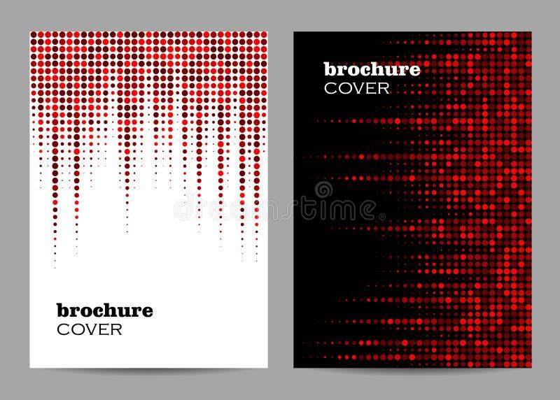 Broszurka szablonu układu projekt Abstrakcjonistycznej czerwieni kropkowany tło ilustracji