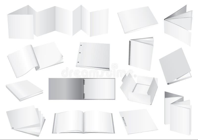 broszurki atrapy wektor ilustracji