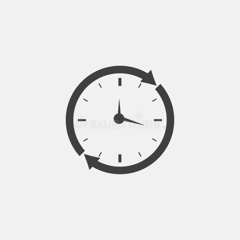 broszurki kawiarni zegaru projekta rozwidlenia tworzą ręk ikony łyżki royalty ilustracja
