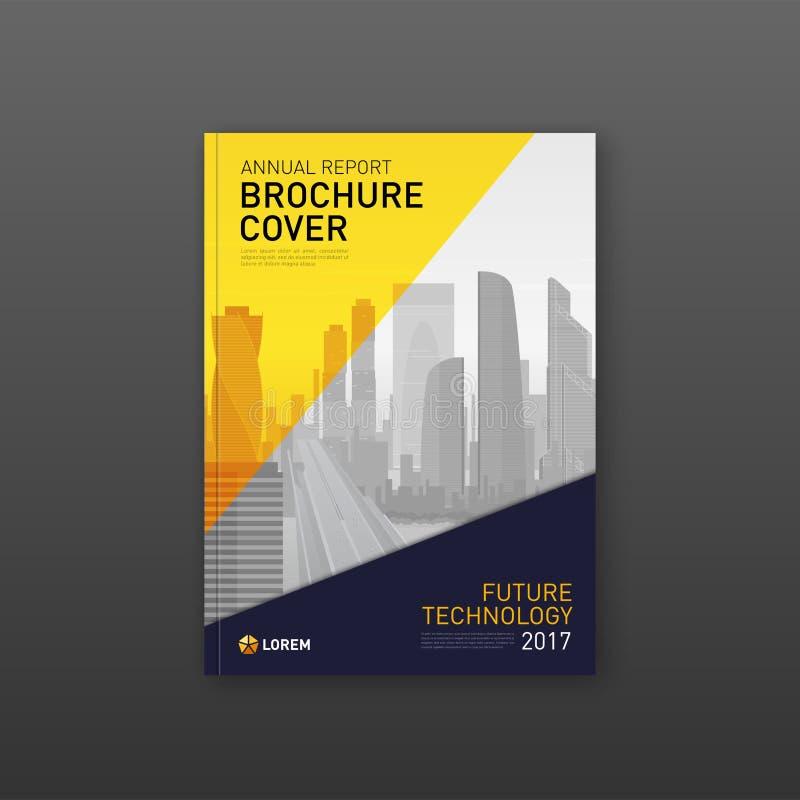 Broszurki pokrywy projekta szablon dla budowy lub finansowej firmy royalty ilustracja