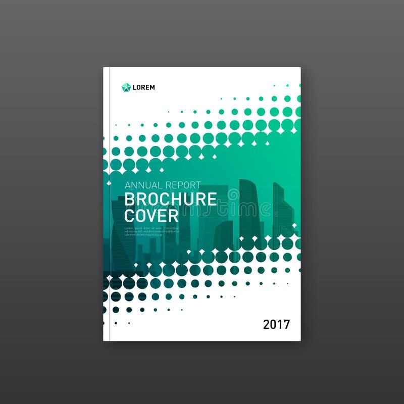 Broszurki pokrywy projekta szablon dla budowy lub technologii firmy ilustracji