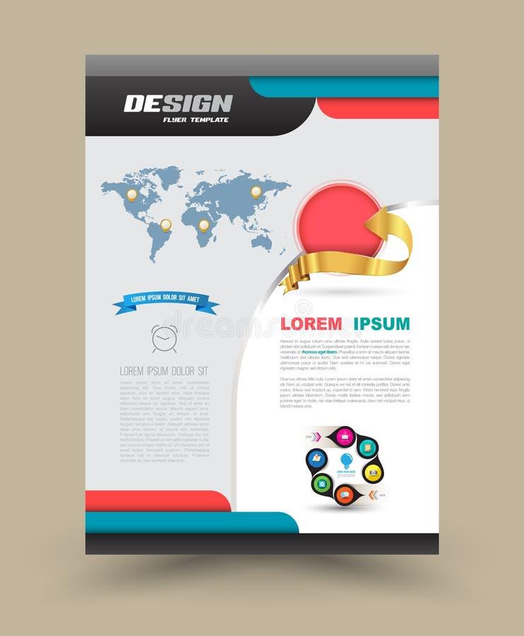 Broszurki ulotki graficznego projekta układu szablon ilustracji