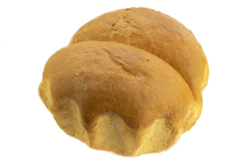 Brot auf einem weißen Hintergrund lizenzfreie stockfotos