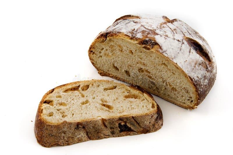 Brot auf Weiß stockbild