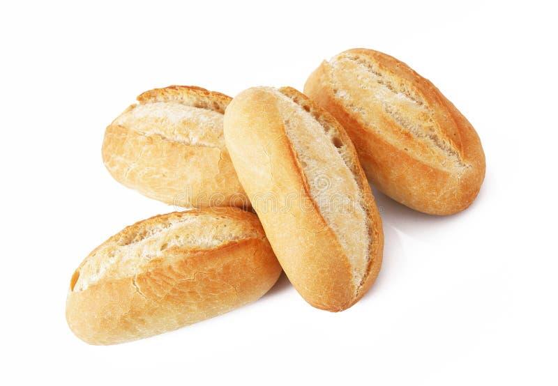 Brot auf weißem Hintergrund lizenzfreie stockbilder