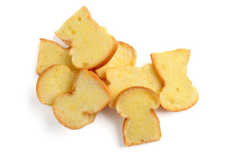 Brot mit Butter stockfoto