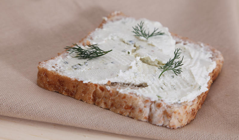 Brot Mit Käse Lizenzfreie Stockfotografie