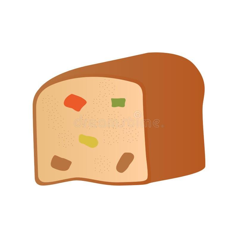 Brot mit kandierter Frucht vektor abbildung