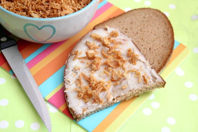 Brot mit Schweinefett stockbild