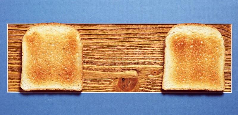 Brot mit zwei Toast stockfotos