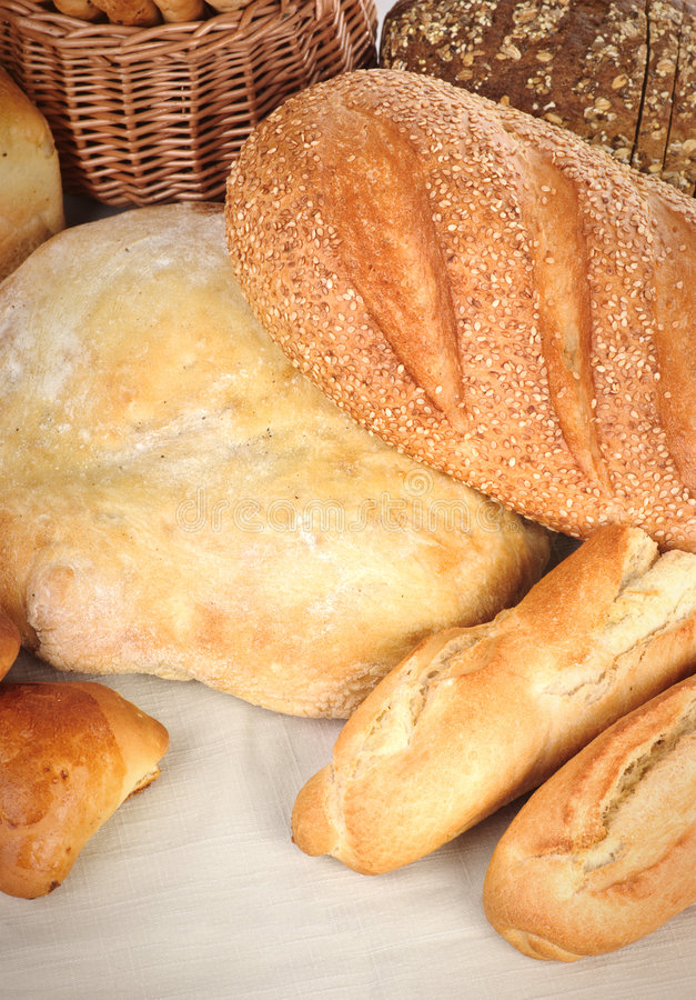 Brot und Bäckereien stockbilder