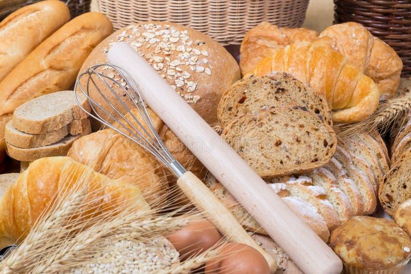 Brot- und B?ckereiprodukte stockfoto